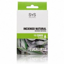 Incenso natural Sys 15 cones Eucalipto