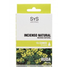 Incenso Natural Arruda Sys 15 cones