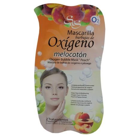 Máscara Facial  Borbulhas de Oxigénio e Pêssego 15 ml